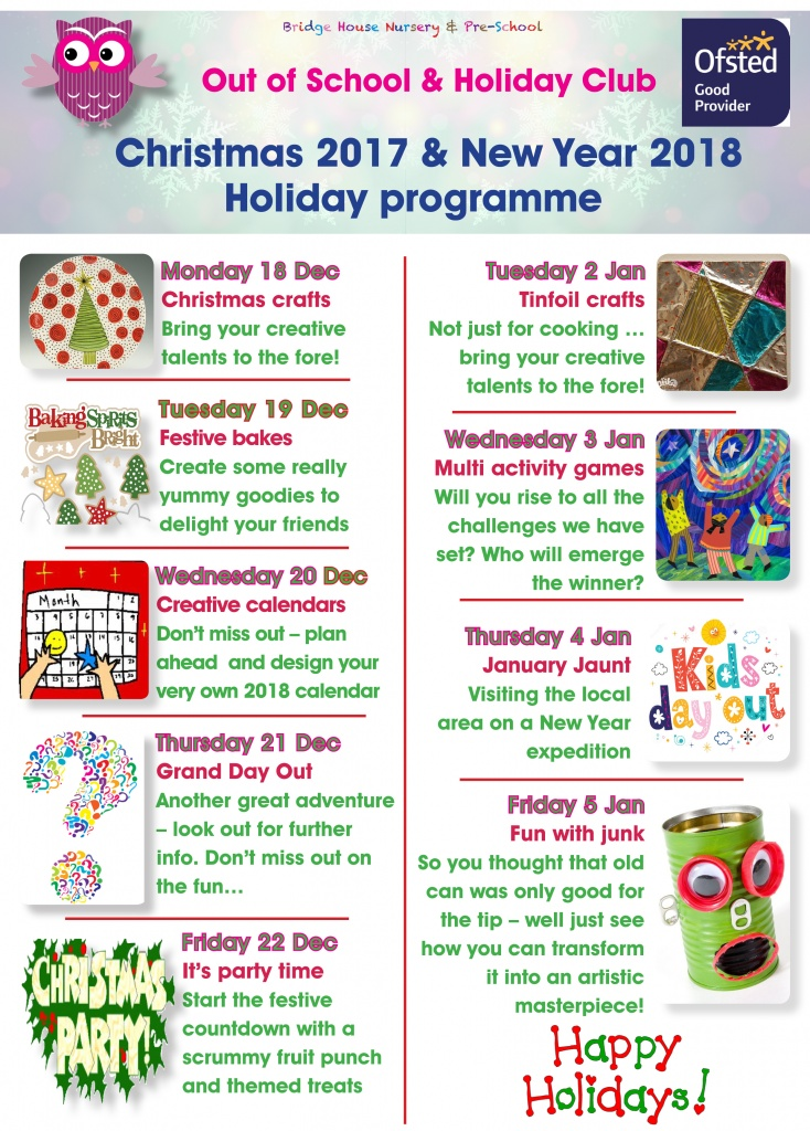 Holiday activities Christmas 2017 p1