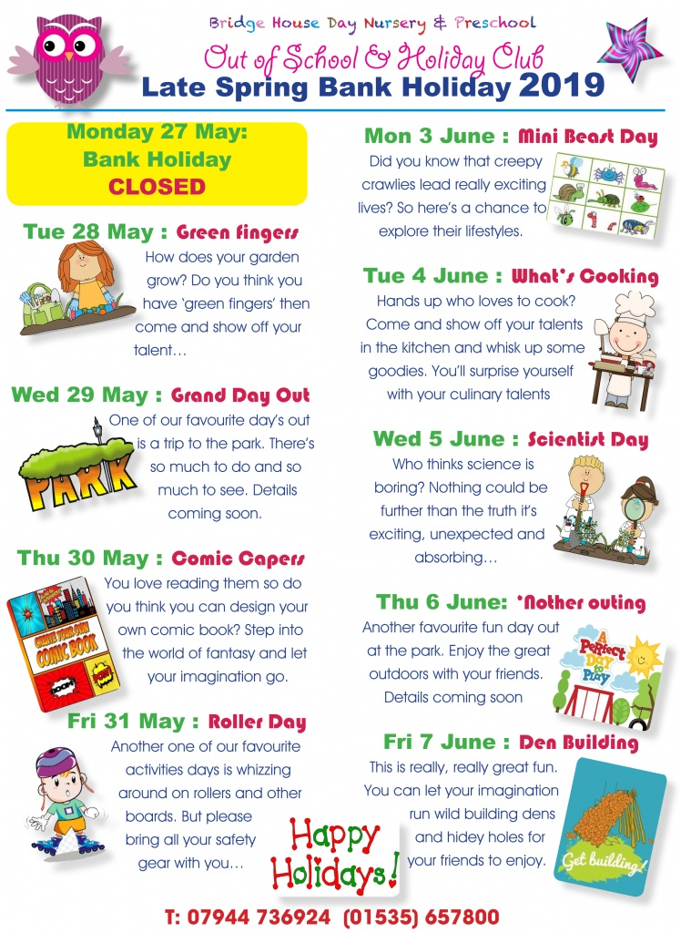 Late spring bank holiday activities 2019 for web