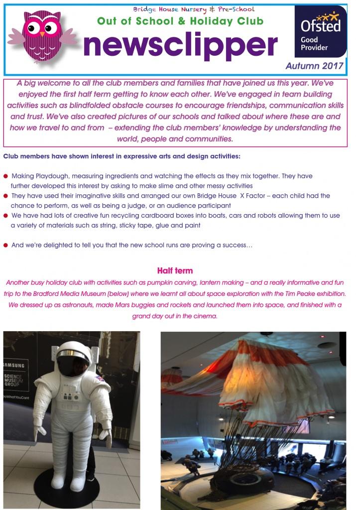 Autumn 2017 newsletter ooshc p1