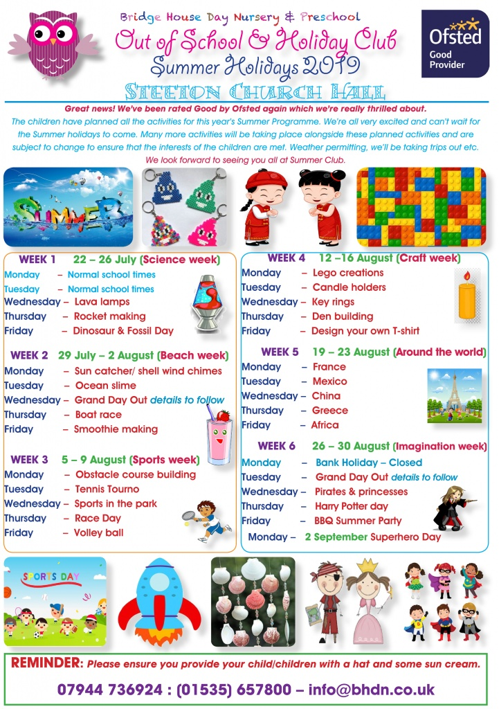 Holiday activities Summer 2019 for web