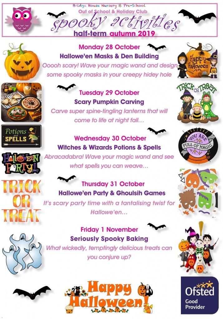2019 Holiday activities October half term