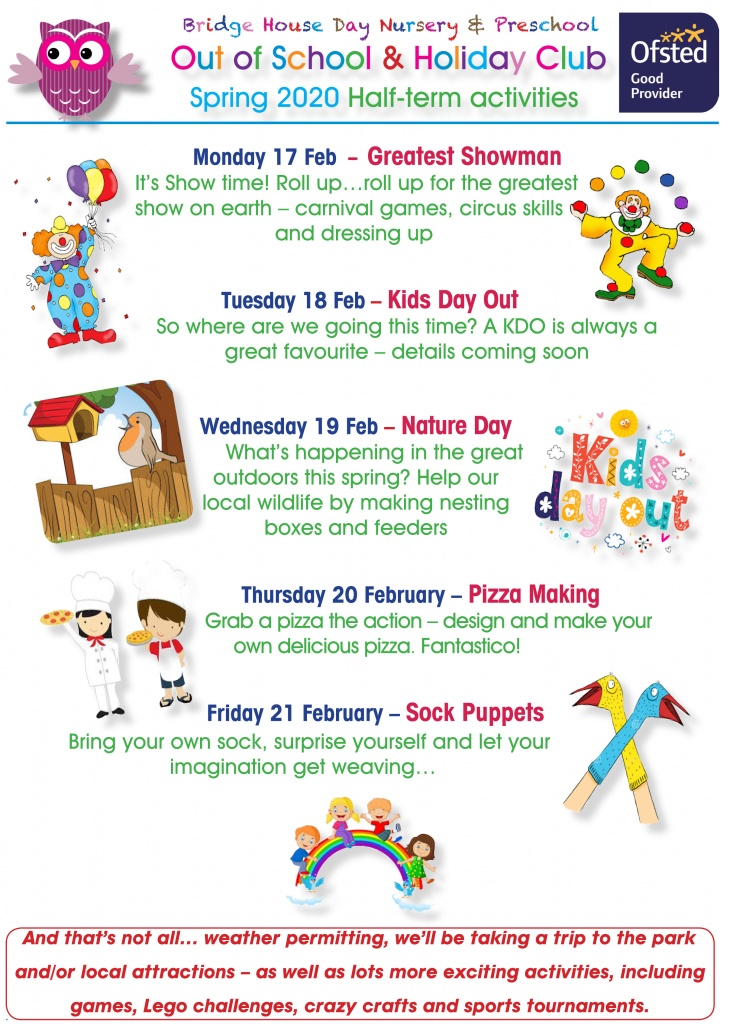 Holiday activities Feb half term 2020 for web