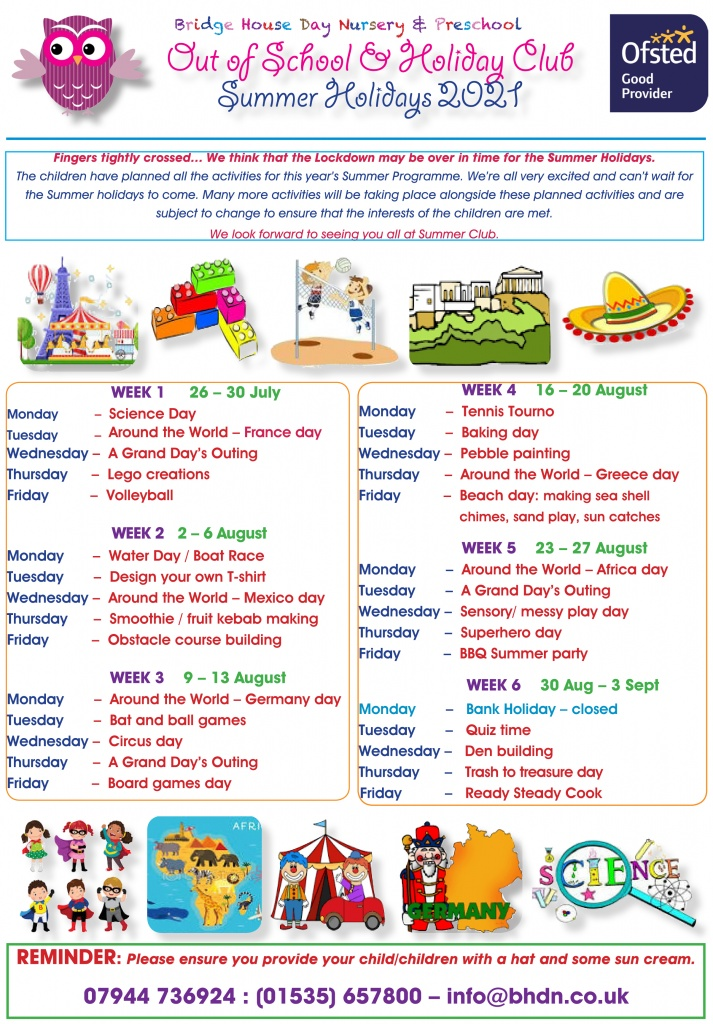 Holiday activities Summer 2021 for web